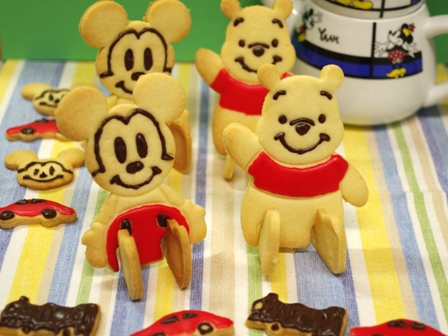 ミッキーとプーさんのクッキー