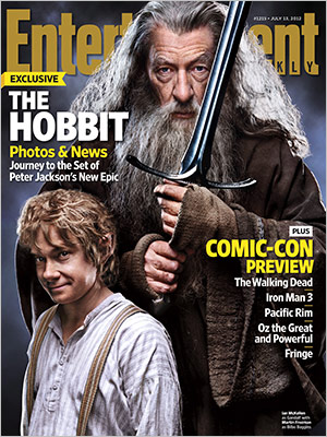 LOTR&Hobbitプチ情報 The Hobbit on EW Cover(「ホビット」が雑誌エンターテインメント・ウィークリーの表紙に)