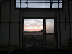 [写真]受付ハウスから望む初日の出