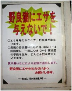 愛媛県松山総合公園とは?虐待をあおる看板が数々!石を投げられ死んだ白猫や両耳をそがれた猫がいます018