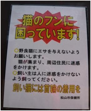 愛媛県松山総合公園とは?虐待をあおる看板が数々!石を投げられ死んだ白猫や両耳をそがれた猫がいます030