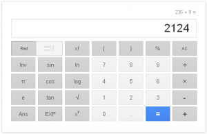 Googleの計算機