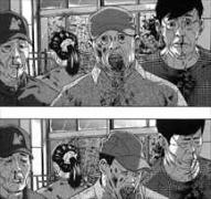 アイアムアヒーロー12巻教室内で襲ってこないZQNたち