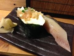 二代め鮨浪花:豆腐軍艦