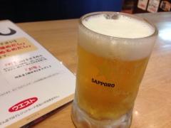 うどんウエスト:ビール